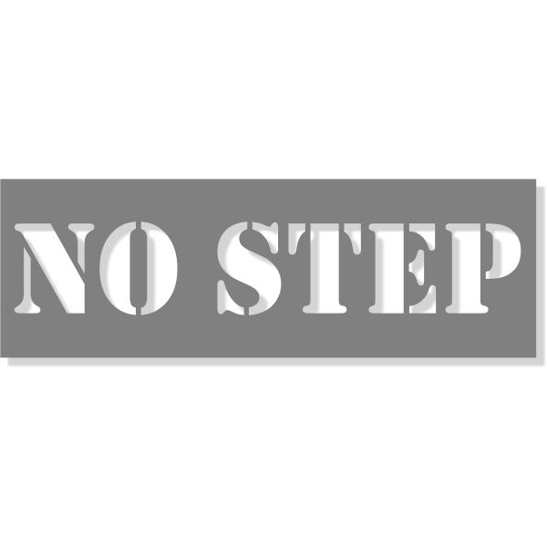 """3"""" Letter No Step Stencil   6"""" x 18"""""""