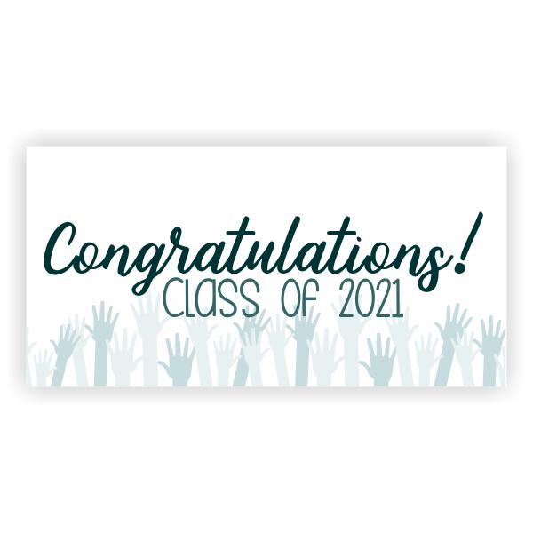 Congratulations Cheers Graduation Banner - 3' x 6'
