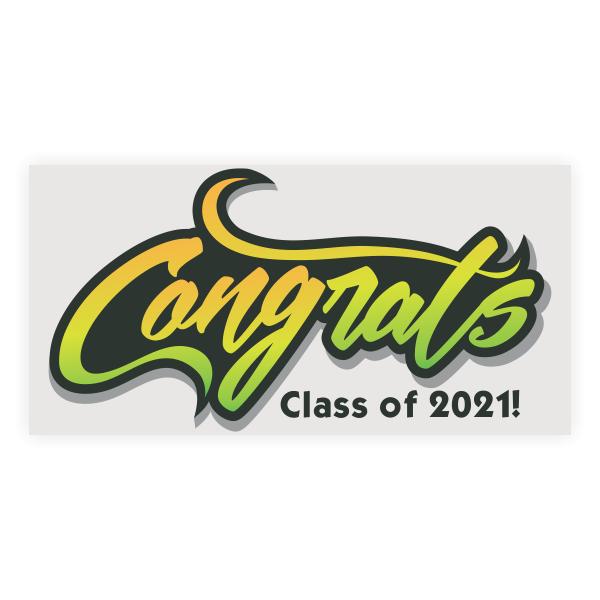 Congrats Graduation Banner - 3' x 6'