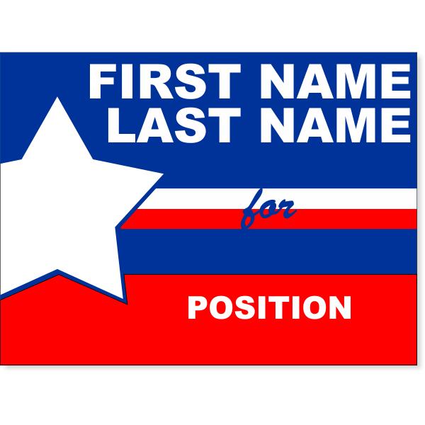 "Big Star Election Yard Sign   18"" x 24"""