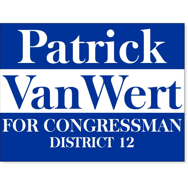 "Blue Election Yard Sign | 18"" x 24"""