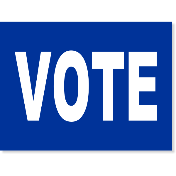 Blue Vote Yard Sign