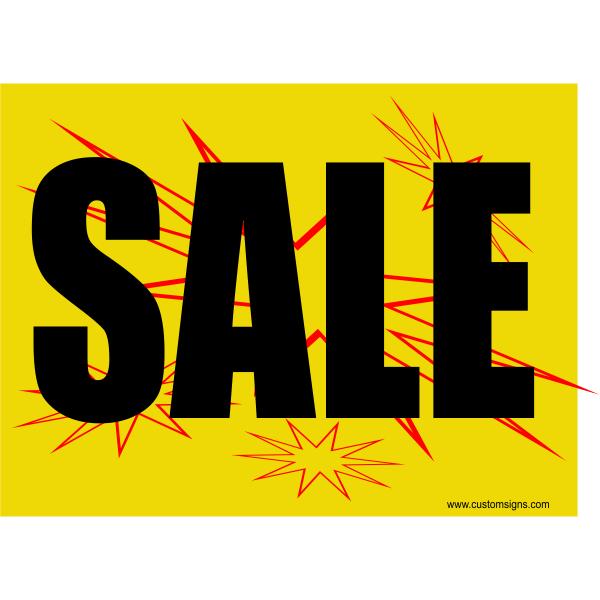 Burst Sale Sign