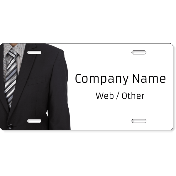 Business Man Suit License Plate