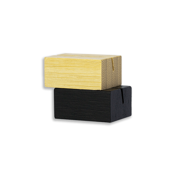 """Wood Place Card Holders 1 1/4"""""""