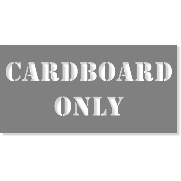 "Cardboard Only Stencil   4"" x 8"""