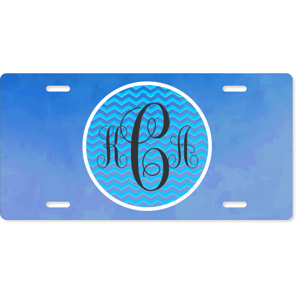 Chevron Monogram License Plate