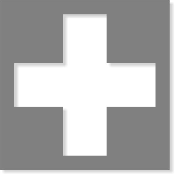 Cross Stencil | Multiple Sizes