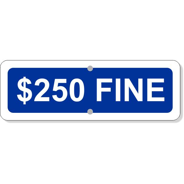 "Custom Fine Add-On Aluminum Sign Blue   4"" x 12"""