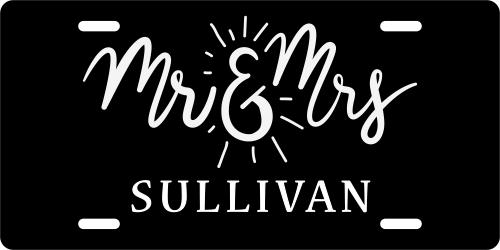 Mr & Mrs Custom License Plate