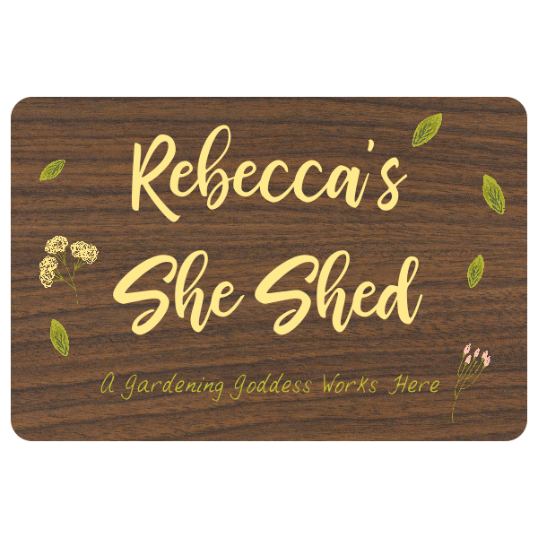 """Custom She Shed Floral Sign   8"""" x 12"""""""