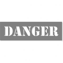 "3"" Letter 6"" x 20"" Danger Stencil"
