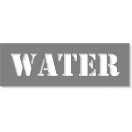 "3"" Letter 6"" x 18"" Water Stencil"