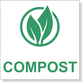 """3"""" x 3"""" Green Compost Decal"""