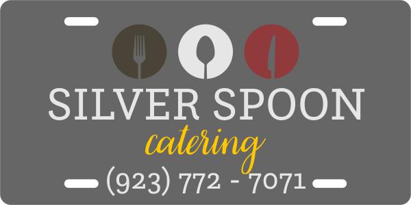Modern Catering Industry Custom License Plate