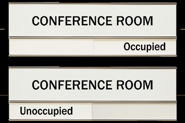 White Conference Slider Sign