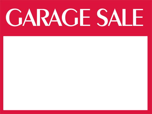 Custom Garage Sale Sign