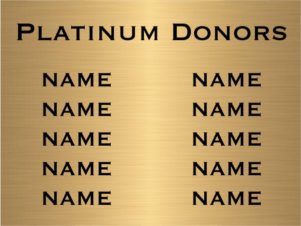"10 Name Brass Plates   6"" x 8"""