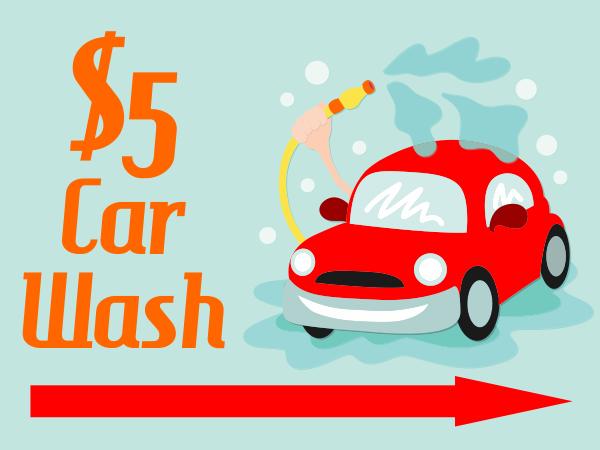 Car Spray Car Wash Sign