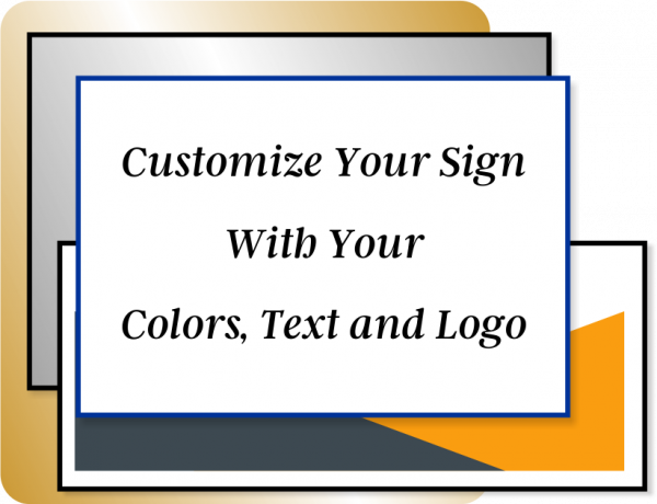 Color Sign Vertical 16 in x 4 in