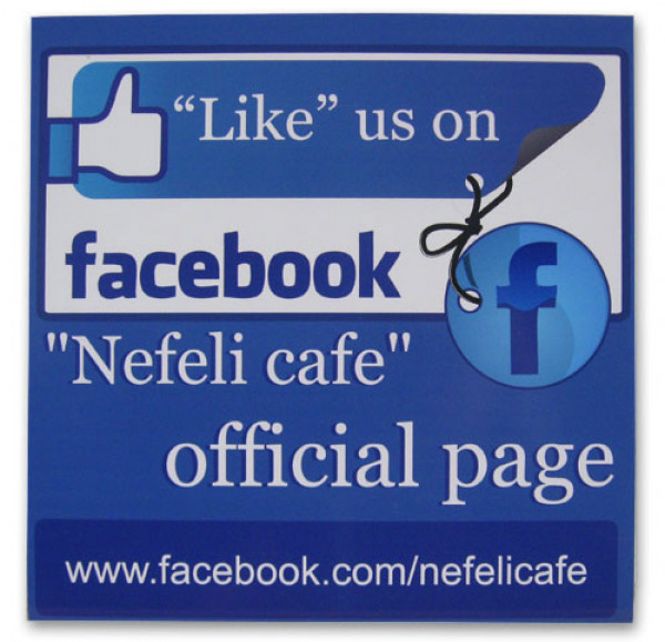 """Like Us On 10"""" x 10"""" Facebook Sign"""