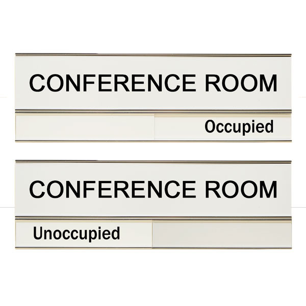 Conference Room Unoccupied Occupied 3 X 10 Slide Sign