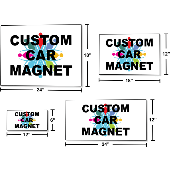 Car Magnetic Signs Multiple Sizes   Set of 2