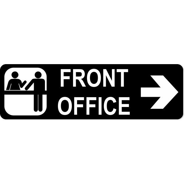 """Front Office Right Sign 
