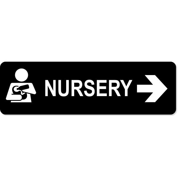 "Nursery Right Sign | 3"" x 10"""