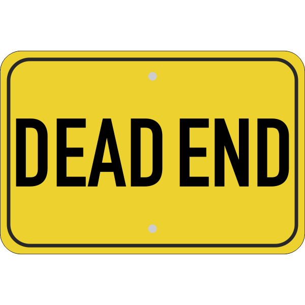Horizontal Dead End Sign