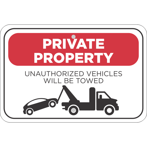 Horizontal Tow Away Private Property