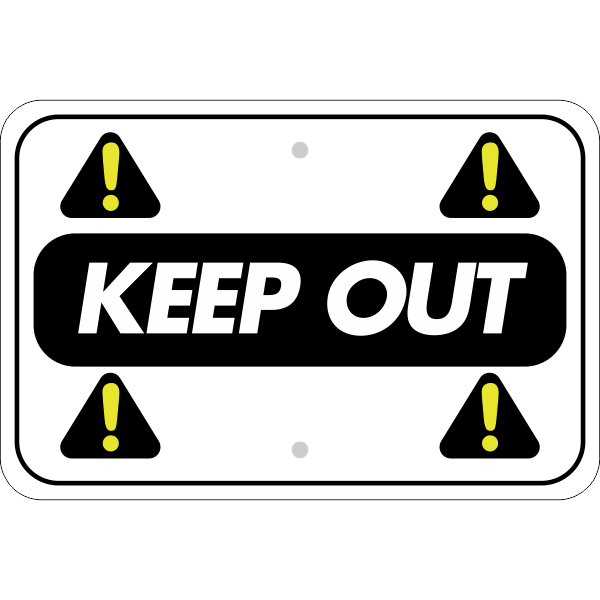 Horizontal Repeated Icon Keep Out Sign