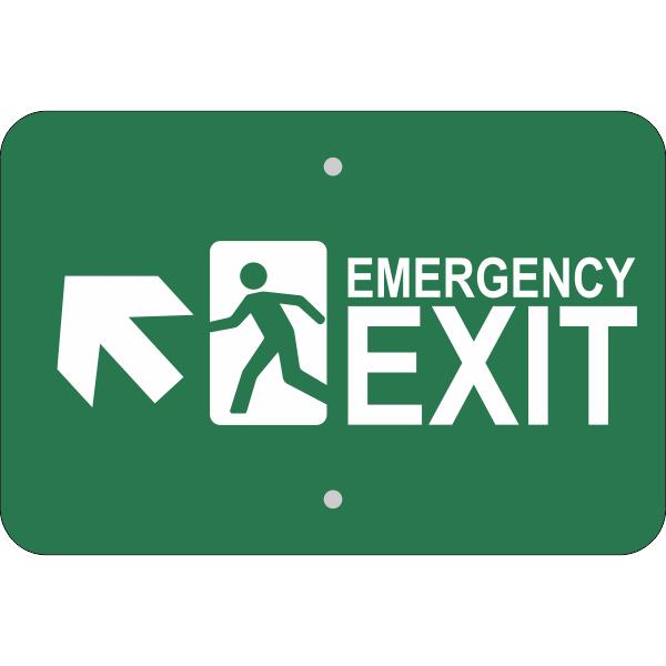 Horizontal Forward Left Arrow Emergency Exit Sign