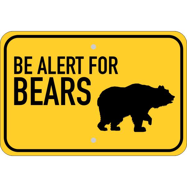 Horizontal Alert For Bears Sign