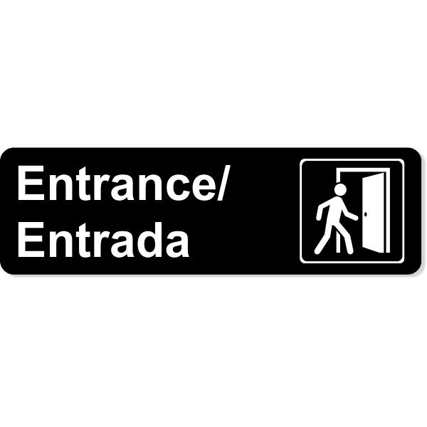 Bilingual Entrance Icon Sign