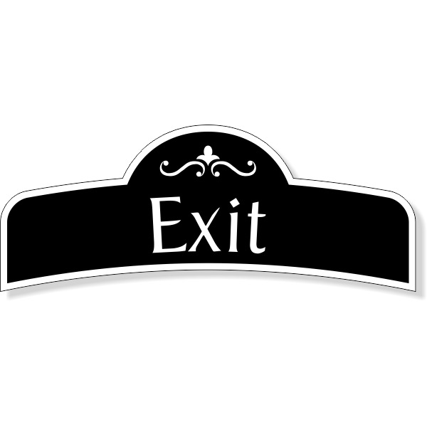 "Decorative Exit Decal  3"" x 8"""