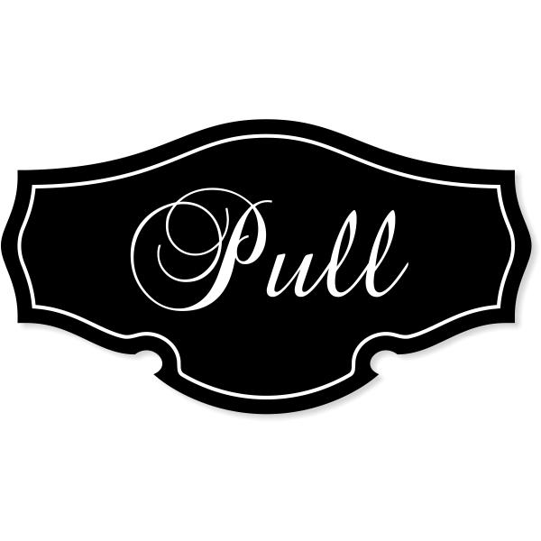 "Pull Classic Shape Decal - 2.75"" x 5"""