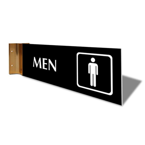 "Men's Room Icon Corridor Sign   4"" x 12"""