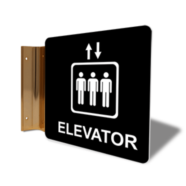"Elevator Icon Corridor Sign   6"" x 6"""