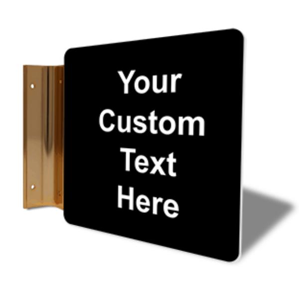 "Custom Text Corridor Sign   6"" x 6"""