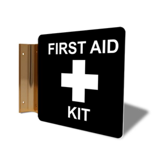 "First Aid Kit Corridor Sign   6"" x 6"""
