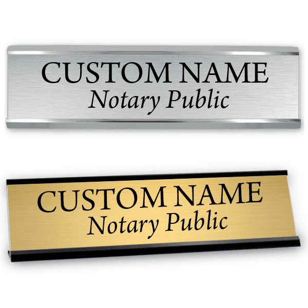 """2"""" x 8"""" Notary Public Name Sign with Frame"""