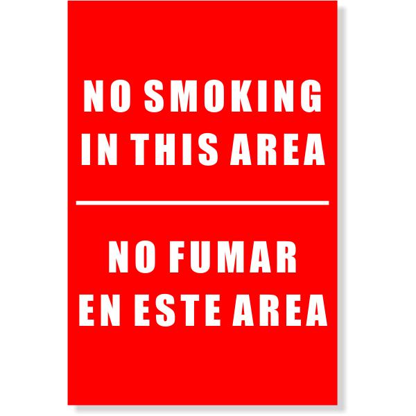 "Bi-Lingual No Smoking Sign | 6"" x 4"""