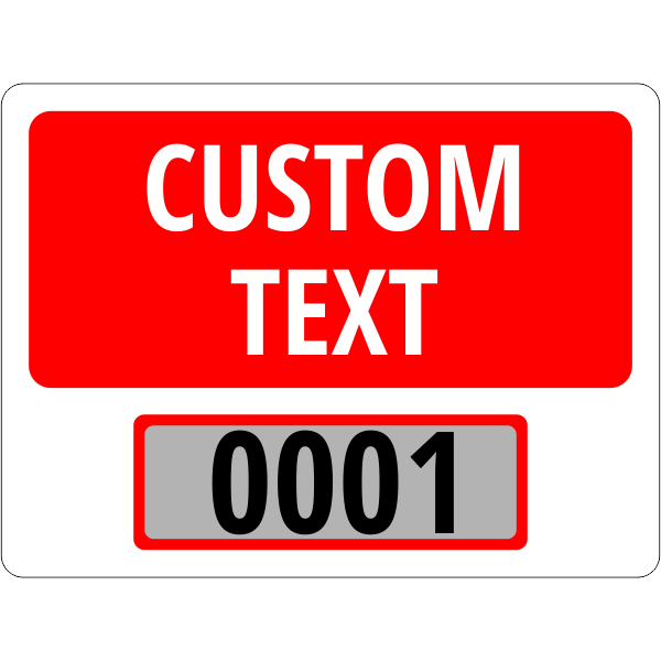 Clear Static Cling Parking Label | Design 103