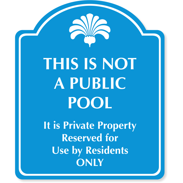 """Engraved Reserved for Residents Sign 