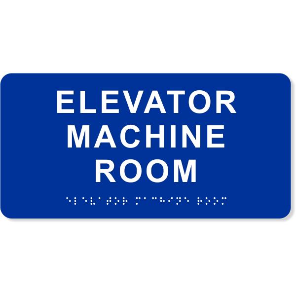 "Elevator Machine Room ADA Sign | 4"" x 8"""