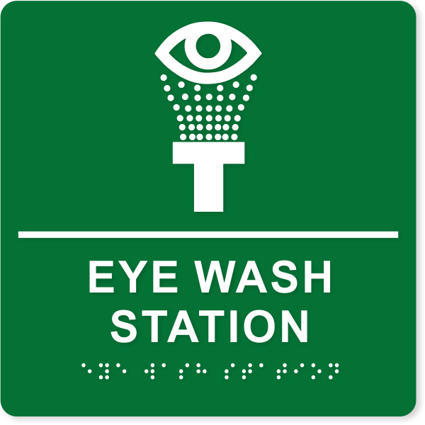 """Eye Wash Station ADA Sign   8"""" x 8"""""""