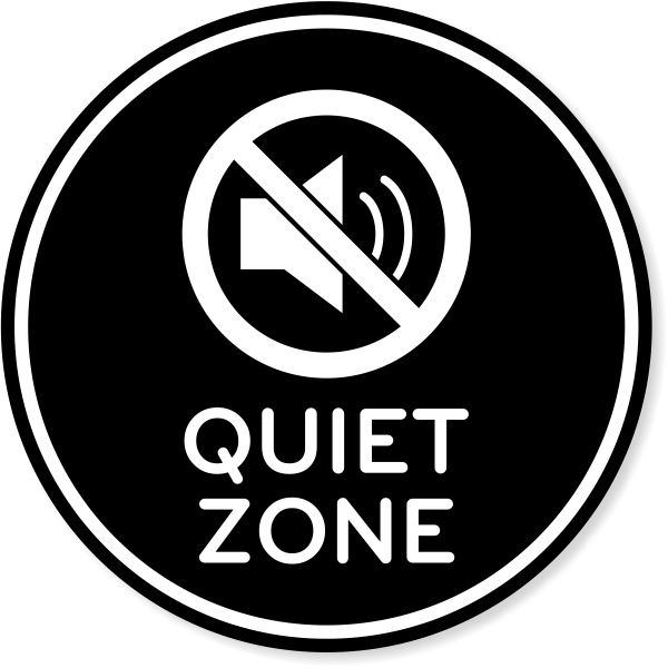 "6"" Round Quiet Zone Engraved Plastic Sign"