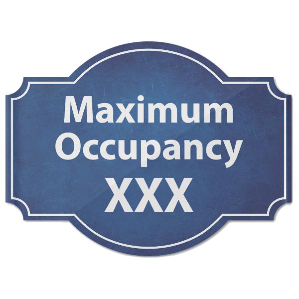 "Maximum Occupancy Blue Texture Acrylic Sign   6"" x 8"""