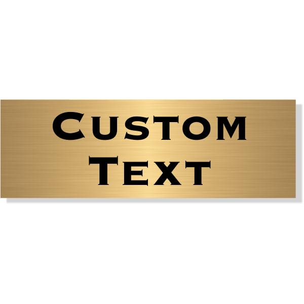 "Double Line Custom Text Brass Plate   2"" x 6"""